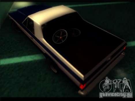 Новые Пикадор для GTA San Andreas вид изнутри