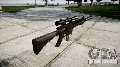 Американская снайперская винтовка SR-25 для GTA 4 второй скриншот