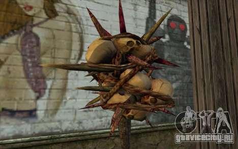 Spyked Zombie Skull Bat From Resident Evil 5 для GTA San Andreas второй скриншот