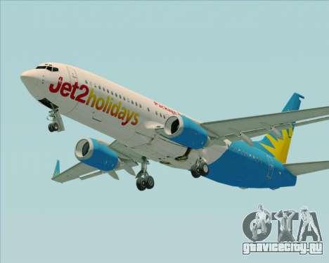 Boeing 737-800 Jet2Holidays для GTA San Andreas вид сзади
