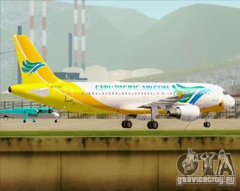 Airbus A320-200 Cebu Pacific Air для GTA San Andreas вид изнутри