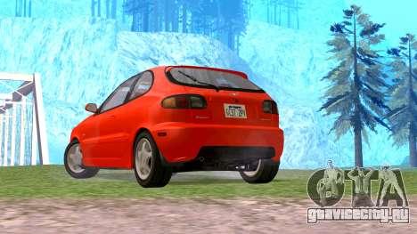 Daewoo Lanos Sport 2001 г. США для GTA San Andreas вид слева