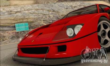 Ferrari F40 Competizione Black Revel для GTA San Andreas вид справа