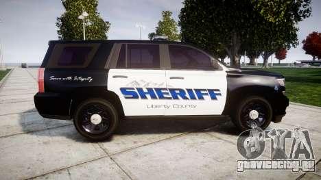Chevrolet Tahoe 2015 Sheriff [ELS] для GTA 4 вид слева