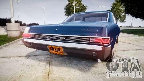 Pontiac GTO 1965 для GTA 4 вид сзади слева