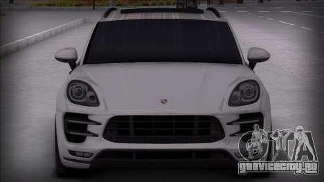 Porsche Macan Turbo для GTA San Andreas вид сзади слева