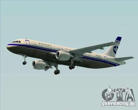 Airbus A320-200 CNAC-Zhejiang Airlines для GTA San Andreas вид слева