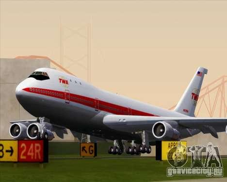 Boeing 747-100 Trans World Airlines (TWA) для GTA San Andreas вид справа