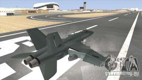 FA-18 Hornet Malaysia Air Force для GTA San Andreas вид слева