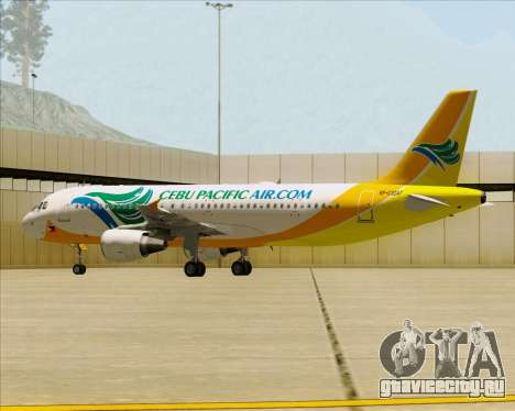 Airbus A320-200 Cebu Pacific Air для GTA San Andreas колёса