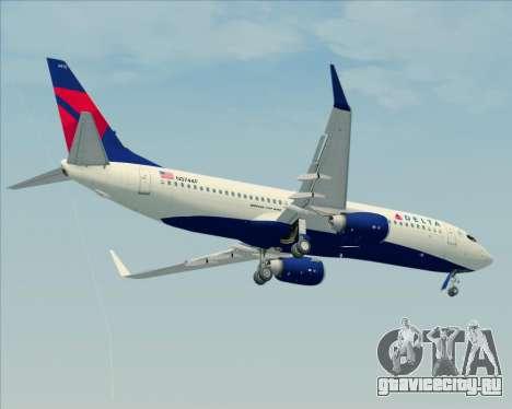 Boeing 737-800 Delta Airlines для GTA San Andreas вид сбоку