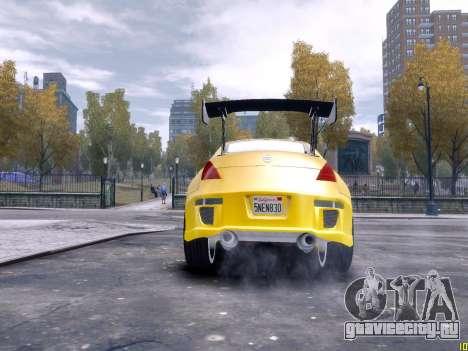 Nissan 350Z Fast And Furious Tokyo Drift для GTA 4 вид сзади