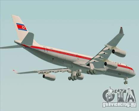 Airbus A340-300 Air Koryo для GTA San Andreas вид снизу