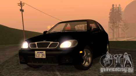Daewoo Lanos Sport 2001 г. США для GTA San Andreas вид сзади
