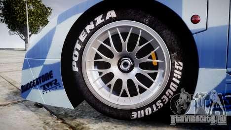Nissan R390 GT1 1998 для GTA 4 вид сзади