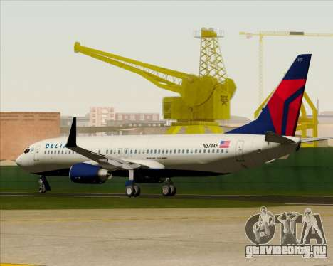 Boeing 737-800 Delta Airlines для GTA San Andreas вид сверху