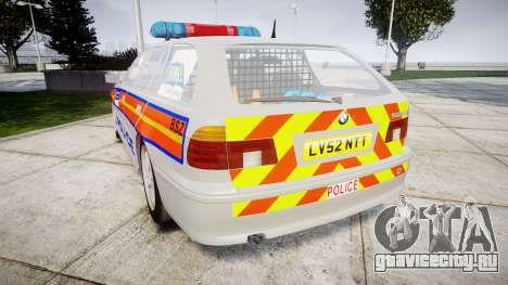 BMW 525i E39 Touring Police [ELS] JSTV для GTA 4 вид сзади слева