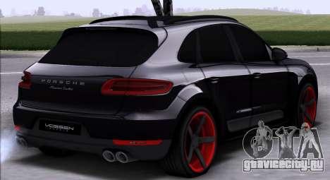 Porsche Macan Vossen для GTA San Andreas вид справа
