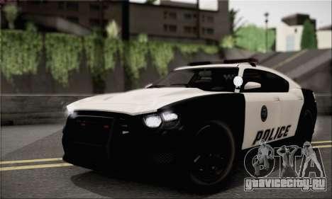 Bravado Buffalo S Police Edition (IVF) для GTA San Andreas вид сзади