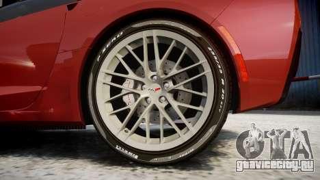 Chevrolet Corvette Z06 2015 TirePi2 для GTA 4 вид сзади