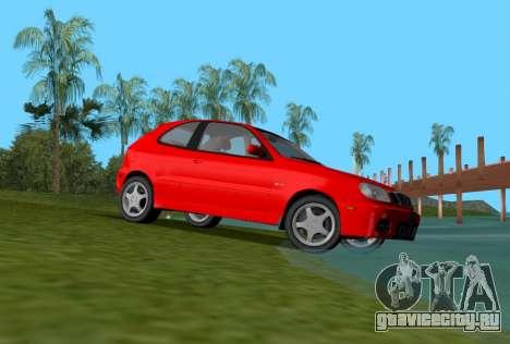 Daewoo Lanos Sport 2001 г. США для GTA Vice City вид справа