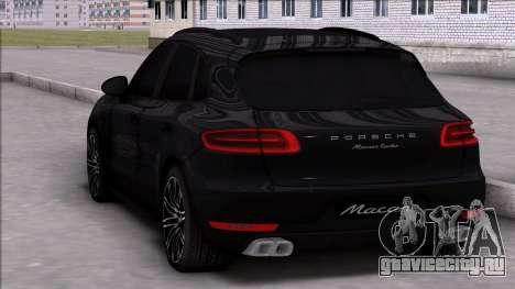 Porsche Macan Turbo для GTA San Andreas вид слева