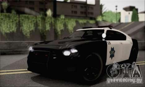 Bravado Buffalo S Police Edition (IVF) для GTA San Andreas вид справа