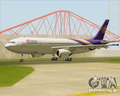 Airbus A300-600 Thai Airways International для GTA San Andreas вид сзади слева
