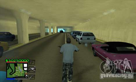 C-HUD by Niko для GTA San Andreas второй скриншот