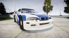 BMW M3 E46 GTR Most Wanted plate NFS-Hero для GTA 4