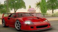 Ferrari F40 Competizione Black Revel для GTA San Andreas
