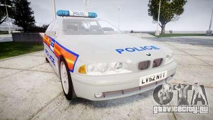 BMW 525i E39 Touring Police [ELS] JSTV для GTA 4