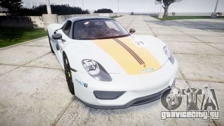 Porsche 918 Spyder 2014 Weissach для GTA 4