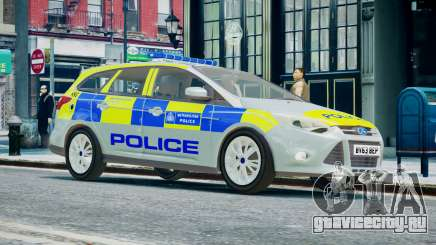 Met Police Ford Focus Estate IRV ELS 8 2013 для GTA 4