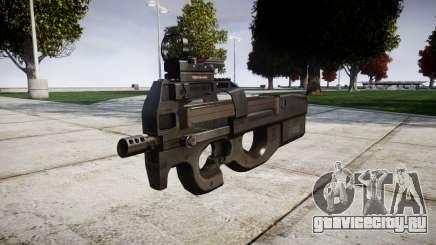 Бельгийский пистолет-пулемёт FN P90 target для GTA 4