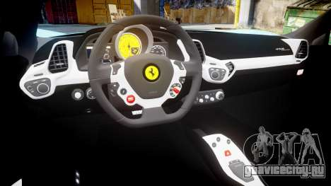 Ferrari 458 Italia 2010 v3.0 Purrari для GTA 4 вид изнутри