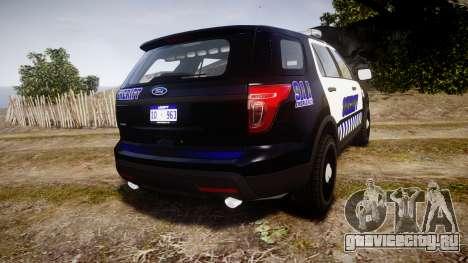 Ford Explorer 2013 Sheriff [ELS] v1.0L для GTA 4 вид сзади слева
