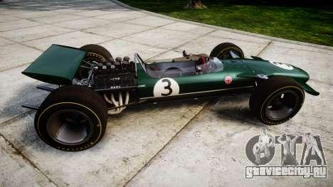Lotus Type 49 1967 [RIV] PJ3-4 для GTA 4 вид слева