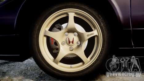 Honda NSX-R NA1 1992 [EPM] для GTA 4 вид сзади