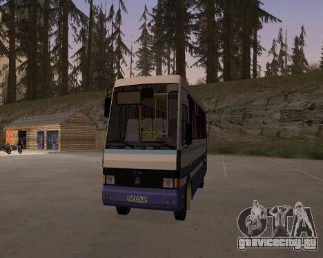 БАЗ А079 Турист для GTA San Andreas вид сзади слева