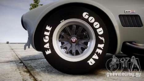 AC Cobra 427 PJ1 для GTA 4 вид сзади