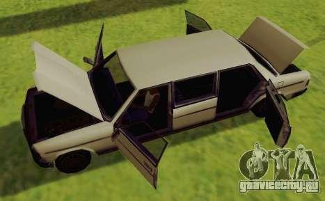 Admiral Limousine для GTA San Andreas вид справа