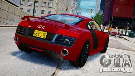 Audi R8 V10 Plus 2014 v1.0 для GTA 4 вид слева