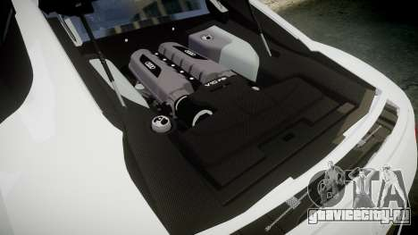 Audi R8 V10 Plus 2014 для GTA 4 вид сбоку