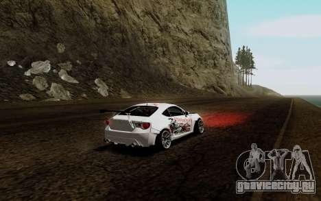 Subaru BRZ VCDT для GTA San Andreas вид справа