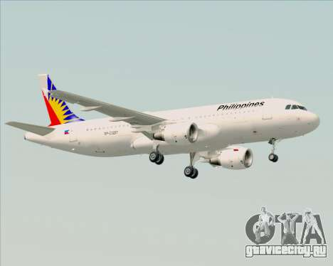 Airbus A320-200 Philippines Airlines для GTA San Andreas вид сзади слева