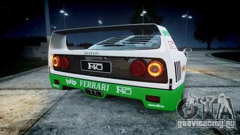 Ferrari F40 1987 [EPM] Jolly Club для GTA 4 вид сзади слева