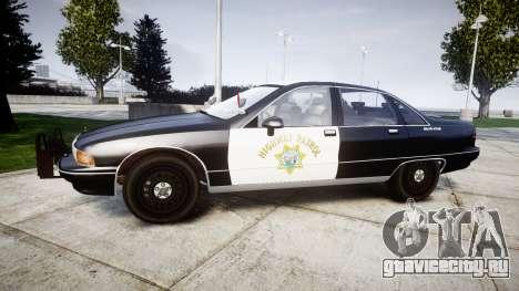 Chevrolet Caprice 1991 Highway Patrol [ELS] Slic для GTA 4 вид слева