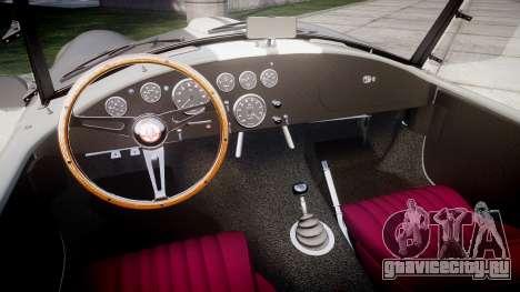 AC Cobra 427 PJ1 для GTA 4 вид изнутри