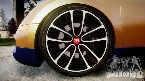 Bugatti Veyron 16.4 v2.0 для GTA 4 вид сзади